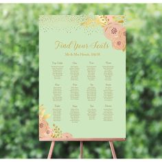 Personalised Mint, Blush and Gold Wedding Table / Seating Plan Wedding Table Seating, Fairy Lights Wedding, Table Names, Blush And Gold, Wedding Announcements, Wedding Save The Dates, Personalized Wedding, Gold Wedding, Wedding Stationery