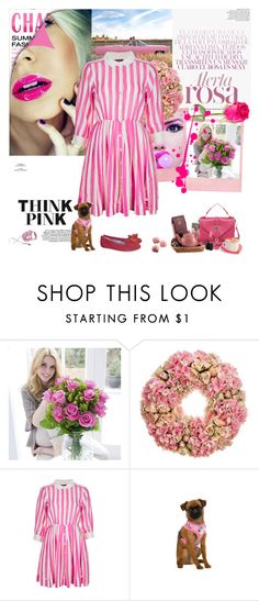 """""""Think pink"""" by lizart ❤ liked on Polyvore featuring Blonde Ambition, Vision, Topshop, Nicki Minaj and Pink Tartan"""