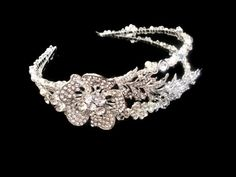 Vintage double band tiara by WestlakeJDesigns, the new piece added to the Hollywood vintage glamour collection, wedding
