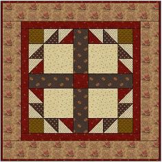 Country Lane Quilts - Doves In The Window Free Pattern - she has other free patterns for small quilts.