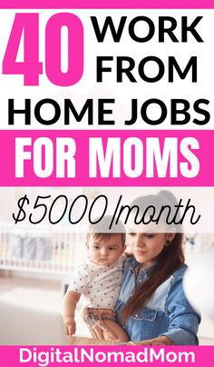40 Online Jobs for Moms to Work At Home and Make Extra Money moms stay at homestay home mom jobsstruggling momstay at home mom jobs extra moneymom quotes stay at homework from home mom schedulestay at home mom motivationsingle momstay at home mom job Online Jobs For Moms, Best Online Jobs, Online Work, Online Careers, Earn Money From Home, Way To Make Money, Make Money Online, Online English Teacher, Virtual Jobs