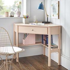 Our Best Home Office Furniture Deals Black Corner Computer Desk, Wood Corner Desk, Corner Writing Desk, Computer Tables, Small Corner Desk, Study Corner, Desks For Small Spaces, Small Desk Space, Corner Office Desk