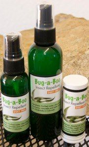 """Bug-A-Boo"" Family Pack Keep the bugs away this summer with a natural alternative...Lemongrass Insect Repellent! Does not contain any DEET or chemically derived insecticides. Kid-safe and environmentally friendly. (Ask your pediatrician about using on children under 12 months old.) ""Bug-A-Boo"" Family Pack includes 1 Bug A Boo 4 oz spray, 1 Bug a Boo 2 oz spray and 1 Bug A Boo Stick.  http://www.ourlemongrassspa.com/repsites/frm_bridge.aspx?id=2130=PRODUCT=D2210"
