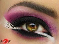 purple black white eyeshadow