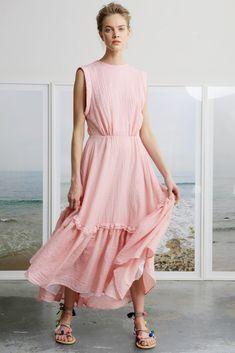 SAN SIMEON DRESS - PINK EYELET