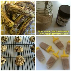 Great ideas to use overripe Bananas via @vegging-at-the-shore // #banana #kidssnack #ripebananas #bananaideas