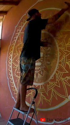 Creative Wall Painting, Dot Art Painting, Mandala Painting, Mandala Drawing, Indian Wall Art, Modern Indian Art, Kerala Mural Painting, Mandala Canvas, Mandala Art Lesson