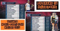 Vídeo del Programa 16 de teledeporte con Lo Mejor del World Pádel Tour de Málaga 2015