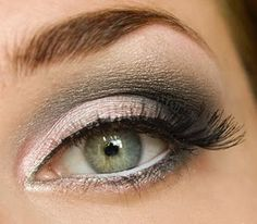 Absolutely love this! A smokey outer V blended into the crease, and white liner on the inner rims to brighten and widen the eyes.
