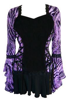 Gothic and Victorian inspired plus size Bolero corset top in Wild Purple  darefashionusa.com  $69.99