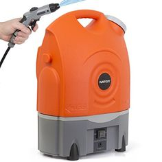 Ivation Multipurpose Electric Portable Smart Washer Water-Tank w/ Built-In Rechargeable Battery & Integrated Roller Wheels - Perfect for Washing Cars, RVs & Pets; Gentle Enough to Serve as Personal Shower When Camping & Hiking; Convenient & Effective as Lawn & Garden Care Tool Ivation http://www.amazon.com/dp/B00R0GBKR4/ref=cm_sw_r_pi_dp_hKjcvb094X545