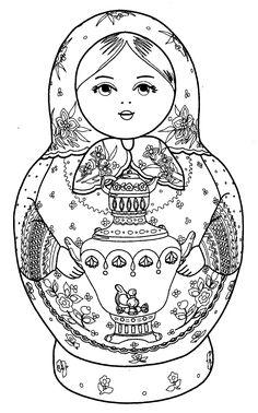 матрешка с выжигом: 21 тыс изображений найдено в Яндекс.Картинках Matryoshka Doll, Kokeshi Dolls, Coloring Book Pages, Printable Coloring Pages, Russian Art, Digi Stamps, Colorful Drawings, Doodle Art, Painting