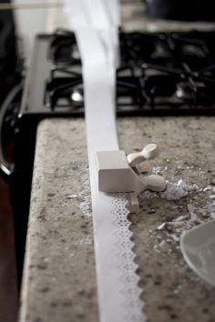 papierowe wstążki