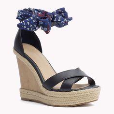 Tommy Hilfiger Chaussures Compensées En Cuir - midnight (Bleu) - Tommy Hilfiger Espadrilles - image secondaire 0