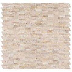 "Aspect 5.9"" x 23.6"" Slate Peel & Stick Mosaic Tile in Medley & Reviews 
