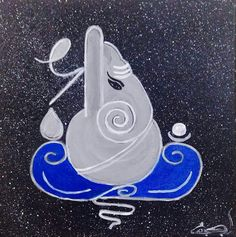 Form of Ganesha Ganesha Painting, Ganesha Art, Lord Ganesha, Rangoli Patterns, Rangoli Designs, Goddess Art, Goddess Lakshmi, Diwali Drawing, Shree Ganesh