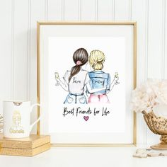 5 Awesome Personalized Gifts for Your Best Friends – Glacelis Diy Gifts For Him, Diy Gifts For Friends, Cards For Friends, Best Friend Cards, Best Friends, Present For Best Friend, Personalized Best Friend Gifts, Personalized Birthday Gifts, Drawings Of Friends