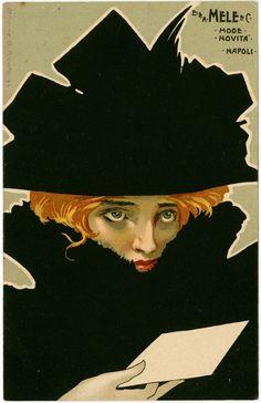 Vintage et cancrelats: Poster des Magasins Mele, 1900