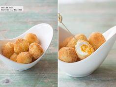 Receta de Huevos de codorniz con almendra.Receta con fotos del paso a paso y sugerencias de presentación.Trucos y consejos de...