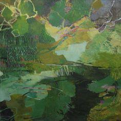 Skogsvattnet, olja 122x125 cm Abstract Landscape Painting, Landscape Art, Landscape Paintings, Abstract Art, Beautiful Paintings, Contemporary Paintings, Oeuvre D'art, Modern Art, Illustration Art