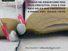 Ministério Adolescentes: Versículo -  Salmos 119:93
