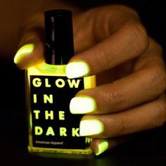 Our limited edition Glow-in-the-Dark Nail Polish online now. #AmericanApparel #halloween #nails #glowinthedark
