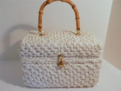 White Raffia Its in The Bag Exclusively for Ritter Box Basket Bag Purse Japan | eBay