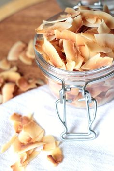 toasted coconut chips, super easy!