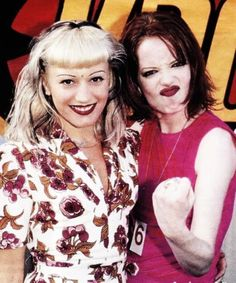 Gwen Stefani and Shirley Manson -- I cut this pic out of my rolling stone magazine and hung it up on my wall. love them!