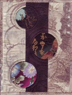 small quilt art patterns ...I like the simplicity of this tiny quilt and may have to make a series with some treasured small pieces of silk, etc......vwr