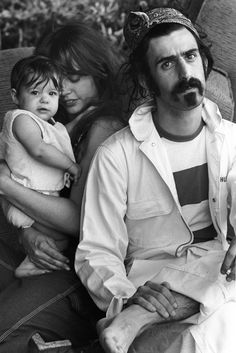 Moon, Gail and Frank Zappa at home in 1968