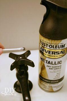 Repainting metal faucets