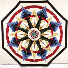 Mariner's Compass, Quiltworx.com, Made by CI Anne Hall.