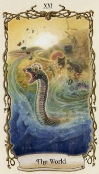 August 7 Tarot Card: The World (Fantastical Creatures deck) You are a stronger and wiser person for the hardships you've endured. Rest your mind and heart now, and know that you've come a long, long way
