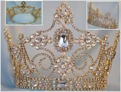 5f0876e1e Empire Regal Crown Silver Queen or King Rhinestone Crown