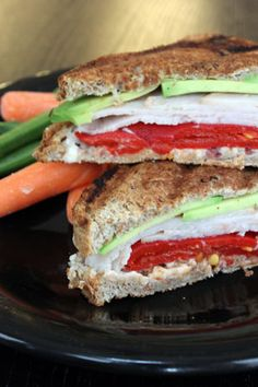 Turkey Bacon Panini with Roasted Peppers and Laughing Cow
