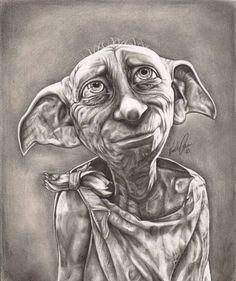 Harry Potter Sketch, Dobby Harry Potter, Harry Potter Anime, Harry Potter Characters, Harry Potter World, Harry Potter Memes, Harry Potter Portraits, Harry Potter Artwork, Images Harry Potter