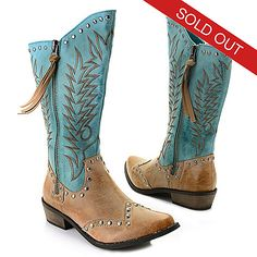 37 - Matisse® Stud Accented Western-Inspired Hi-Lo Boots