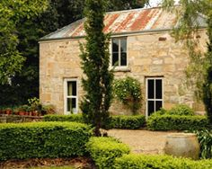 Very sweet B in Victorian Highlands: Black Springs Bakery, Beechworth, Australia - Landhaus Highlands, Cast Iron Stove, Australian Interior Design, Cottage Exterior, French Countryside, Old Stone, Victoria Australia, Clematis, Country Style