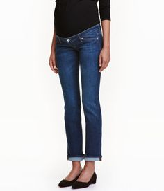 MAMA Straight Jeans | Dark denim blue | Ladies | H&M US