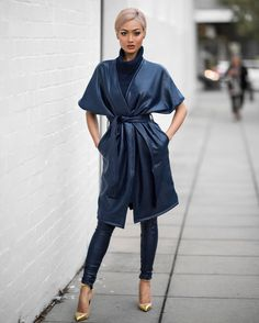 Micah Gianneli - The kinda blues I do like  Love this fit by @premonitiondesigns - winter wardrobe now sorted!