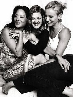 CHARLIE'S ANGELS Drew Barrymore, Cameron Diaz, Lucy Liu.... Umm this is you, me and Linds! @Jennifer Recknor