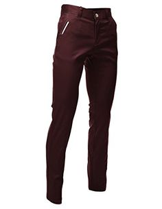 FLATSEVEN Mens Slim Fit Chino Pants Trouser Premium Cotto…