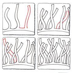 Seaweed  Border Zentangle pattern