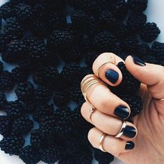 Black nails are the best! #nails