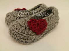 """Valentine's Day """"Baby Love"""" Crocheted Shoes!"""
