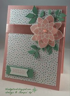 Windy's Wonderful Creations: FMS226 Hello Spring!, Stampin' Up!, Crazy About You, Birthday Bouquet DSP