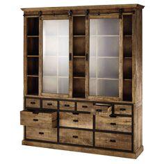Solid mango wood dresser W Interior Design Layout, Interior Design Living Room, Layout Design, Industrial Interiors, Industrial Furniture, Wood Dresser, Affordable Furniture, China Cabinet, Diy Home Decor
