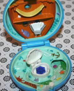 Polly Pocket Jeweled Sea Compact Blue by Pooyabee on Etsy