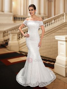 Tidebuy.com Offers High Quality Dazzling Off the Shoulder Sequin Beaded Mermaid Lace Wedding Dress, We have more styles for Wedding Dresses 2016 (Free Shipping)
